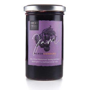 A jar of Highfield Blackcurrant Jam