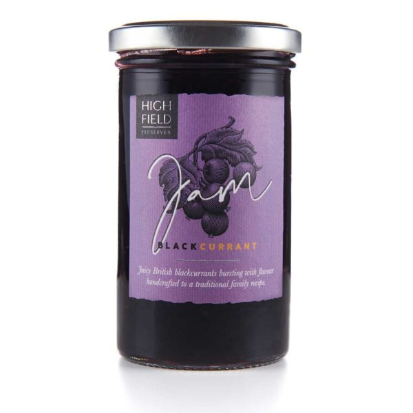 A jar of Highfield Blackcurrant Jam