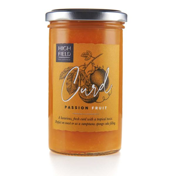 A jar of Highfield Passion Fruit Curd