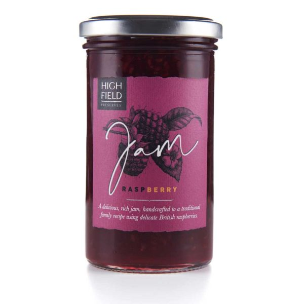 A jar of Highfield Raspberry Jam