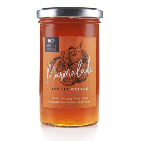 A jar of Highfield Seville Orange Marmalade