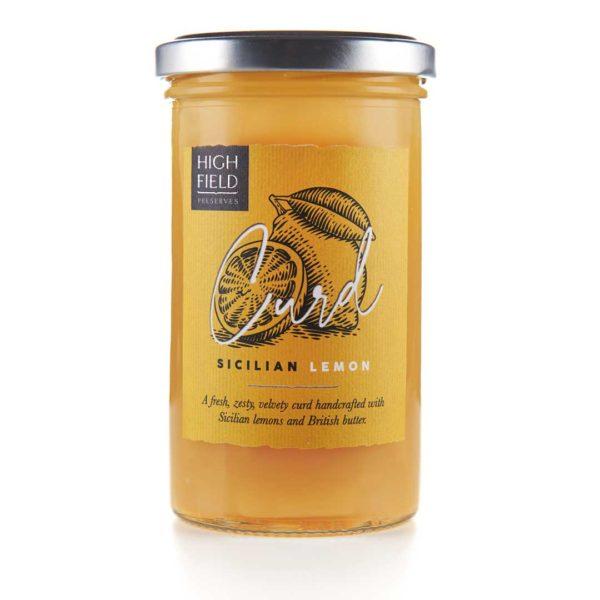 A jar of Highfield Sicillian Lemon Curd