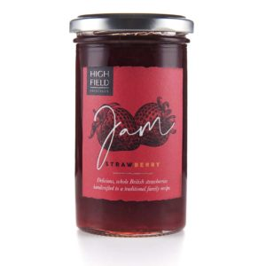 A jar of Highfield Strawberry Jam