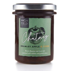 A jar of Highfield Bramley Apple and Cider Chutney